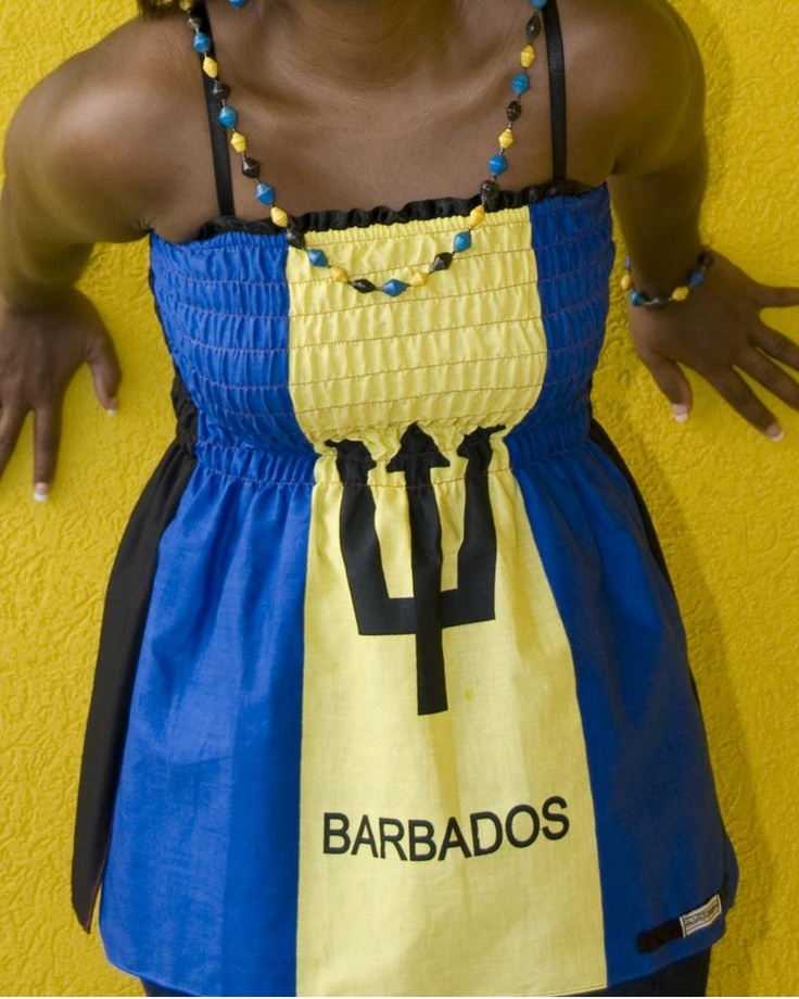 Barbados flag top