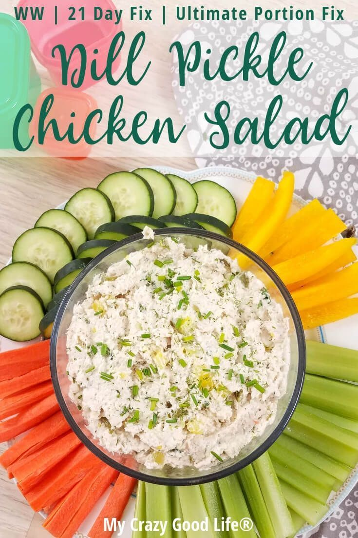 This healthy Dill Pickle Chicken Salad is a delicious low carb chicken salad rec…