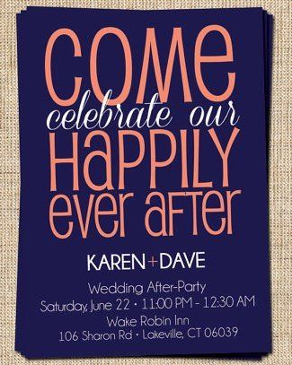 "Because this is a cute invitation for a ""we're already married, we eloped"" reception. Change of colors? Probably."