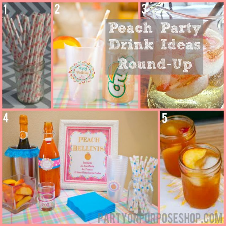 57 Best Peach Birthday Party Ideas Images On Pinterest