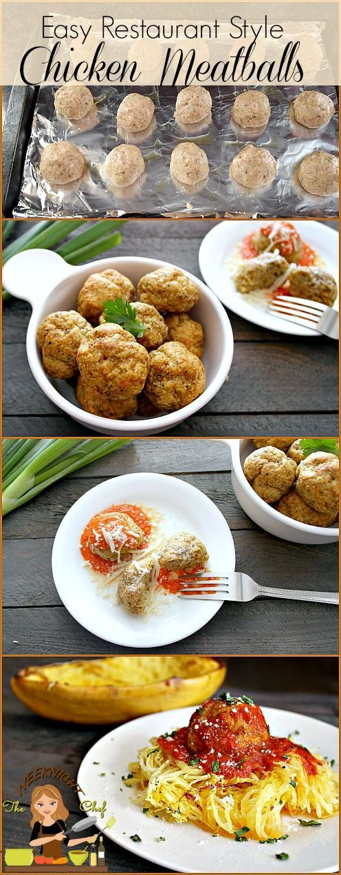 Easy Restaurant Style Chicken Meatballs - They're so good!