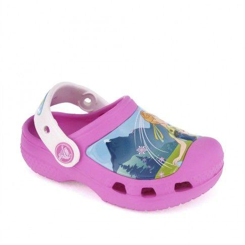 Sandale plaja fete FrozenFever Party Pink - Crocs