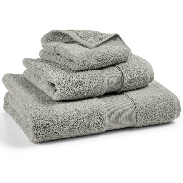 Hotel Collection Premier Wash Towel, ($8.99) ❤ liked on Polyvore featuring home, bed & bath, bath, bath towels, pumice, patterned bath towels and hotel collection bath towels