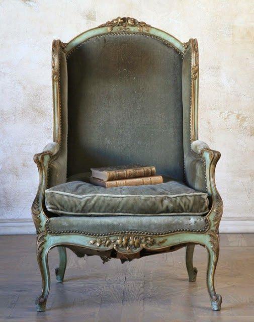 Nice chair. i like the celadon antiqued wood.
