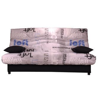 Banquette Clic-Clac imprim� Matelas Sofaflex + Coffre de rangement SURF
