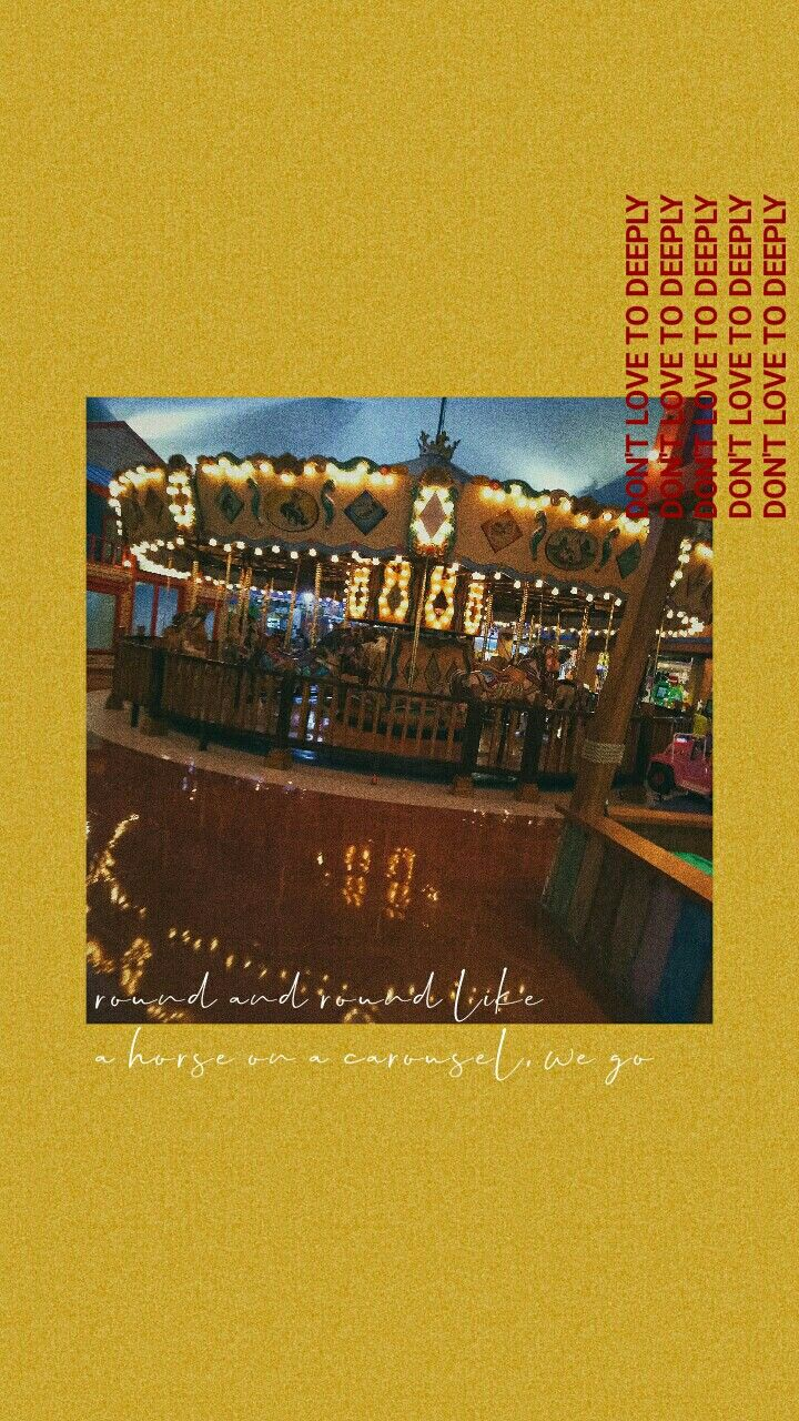 Tumblr Aesthetic Wallpaper Tumblr Aesthetic Yellow Carousel
