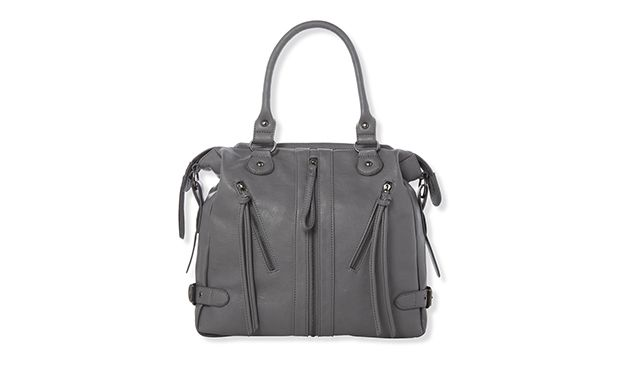 "Grey Slouch Bag. ""With plenty of pockets, this cool grey bag is ideal for housing your everyday necessities."""