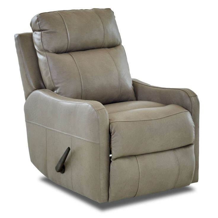 Klaussner Furniture Made to Order Tacoma Leather Reclining Rocking Chair (Putty Beige), Tan, Size Standard