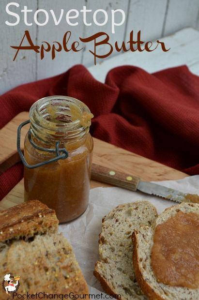 Stovetop Apple Butter Recipe: PocketChangeGourmet.com