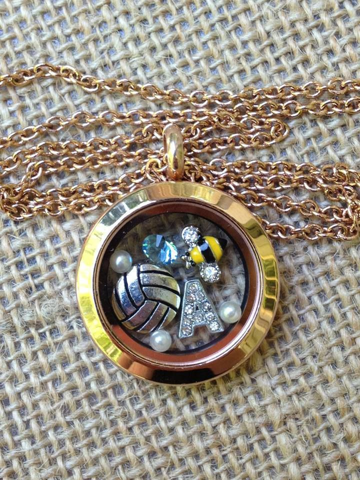 Volleyball Locket - You can order your customized locket at: www.southhilldesi...