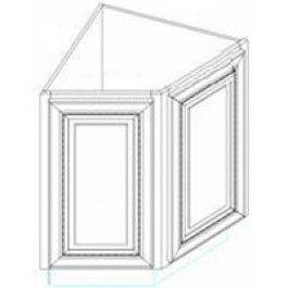 For peninsula corner v angle base cabinet kitchen ideas for Angled corner kitchen cabinets