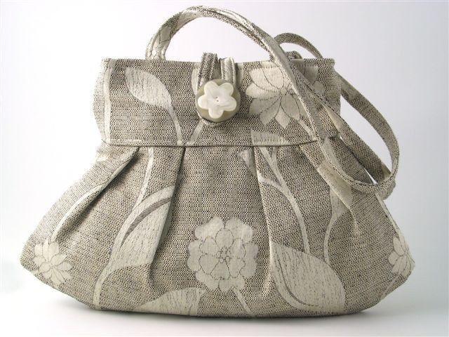 small tote bag- grey purse- womens handbag  -shoulder bag - retro purse- fabric bag- retro bag- grey tote bag- pleated bag by daphnenen on Etsy https://www.etsy.com/listing/60576788/small-tote-bag-grey-purse-womens-handbag