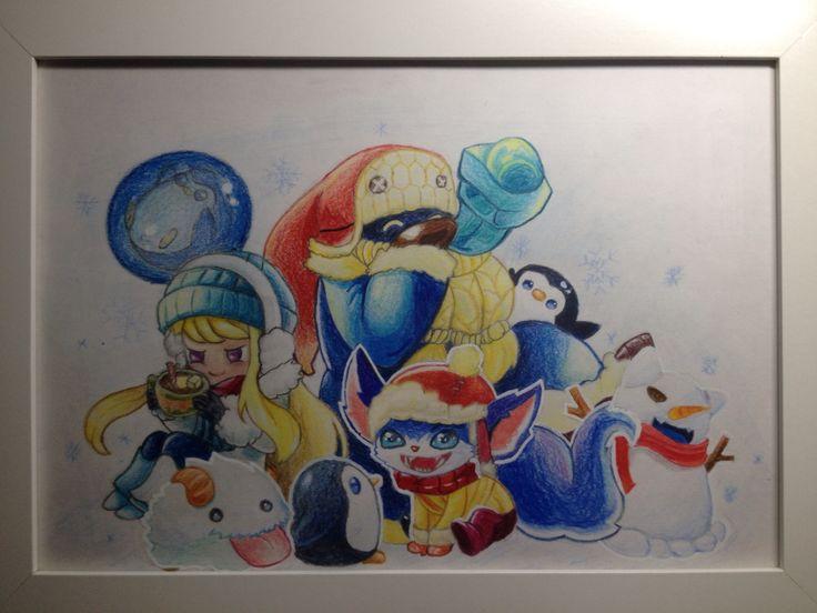 Lol snowday|colored pencil