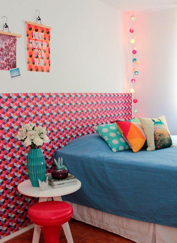 Casa Bruna - Une tête de lit en papier peint