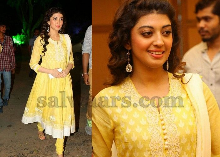 Praneetha Lemon Yellow Churidar - Indian Dresses