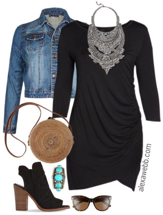 09780bbd00 Plus Size Little Black Dress with Sleeves - Plus Size LBD - Plus Size  Fashion for Women - alexawebb.com  alexawebb