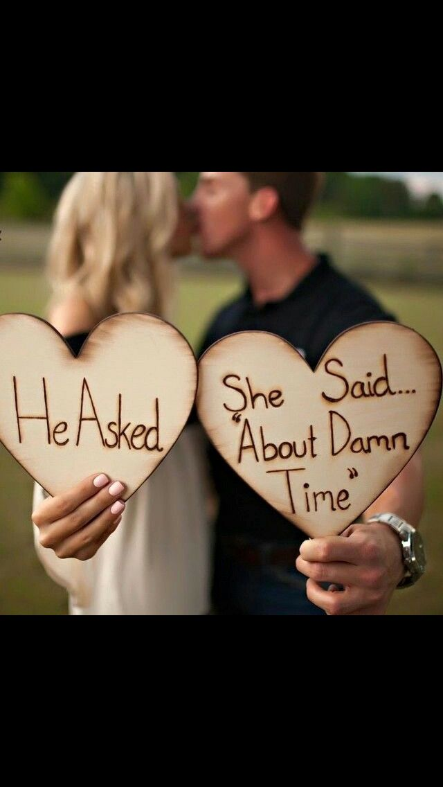 He asked and she said about damn time ❤️