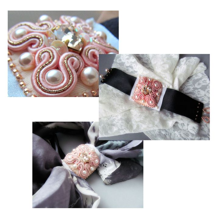 Soutache bracelet handmade embroidered in by Ligita Līberte Jegorova