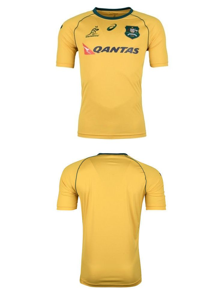 Rugby 21563: Australia Wallabies Rugby 2017 Asics Home Jersey Adults Sizes S-3Xl! -> BUY IT NOW ONLY: $149.95 on eBay!