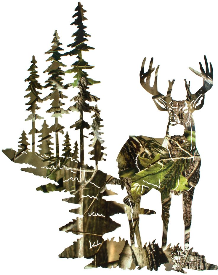 Camo deer wall art realtree camo for Camouflage wall mural