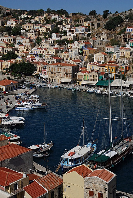 Symi, Greece - travelled hear twice - once with my daughters on our first trip abroad and once with my sister tina