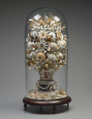 Brooklyn Museum: Decorative Arts: Shell Flower Arrangement
