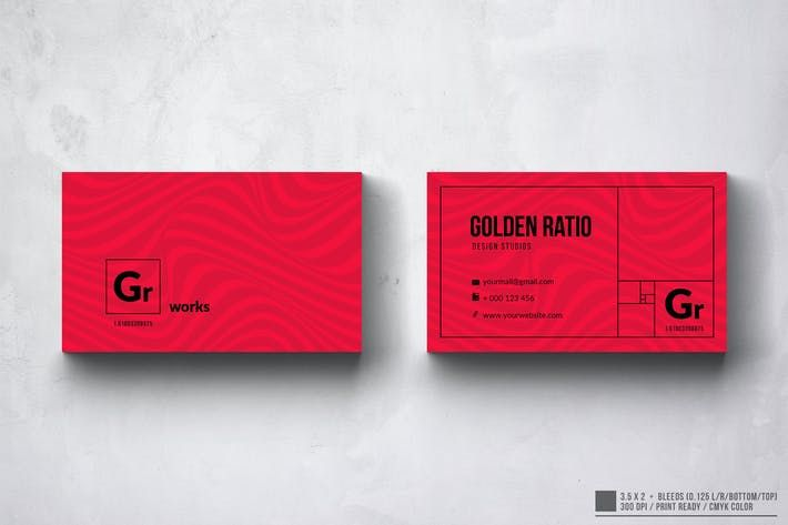Golden Ratio Business Card Design Graphic Design Business Card Card Design Business Card Design