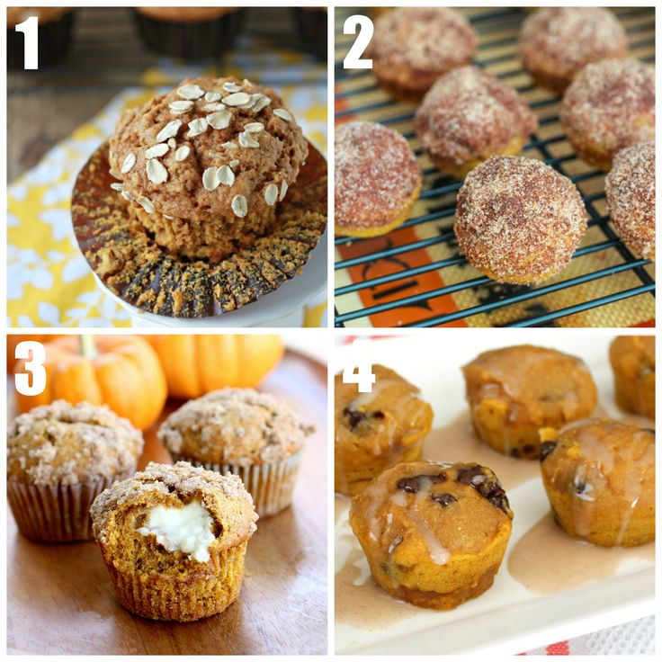 Healthy pumpkin muffin recipes • CakeJournal.com: Desserts, Pumpkin Muffins Recipes, Muffins Recipes I, Pumpkins, Recipes Food Cooking, Breads, Healthy Pumpkin Muffins, Pumpkin Muffin Recipes, 21 Muffins