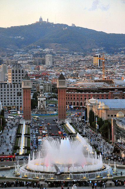 Magical Fountain in Barcelona, Spain.