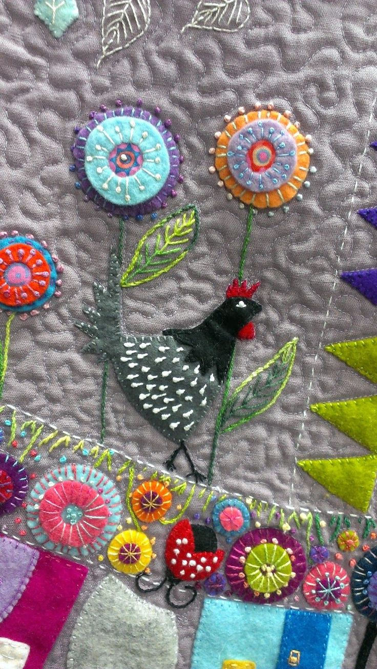 What a pleasure to have the delightful Wendy Williams from Flying Fish Kits come back to Kimz for another wonderful wool felt applique work...