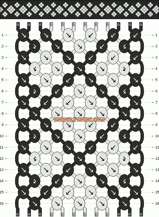 Normal Friendship Bracelet Pattern #11134 - BraceletBook.com