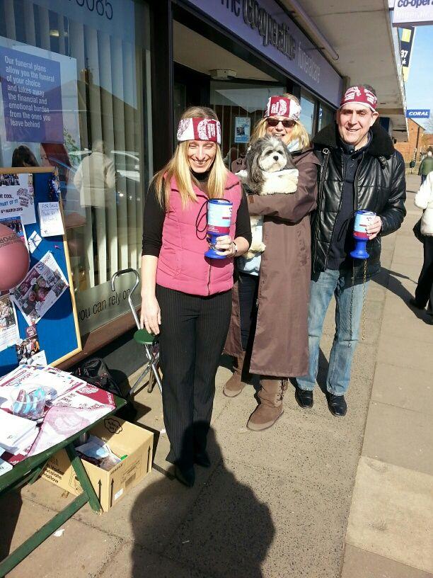 Raising awareness with Bandanas for Brain Tumours in Cheltenham