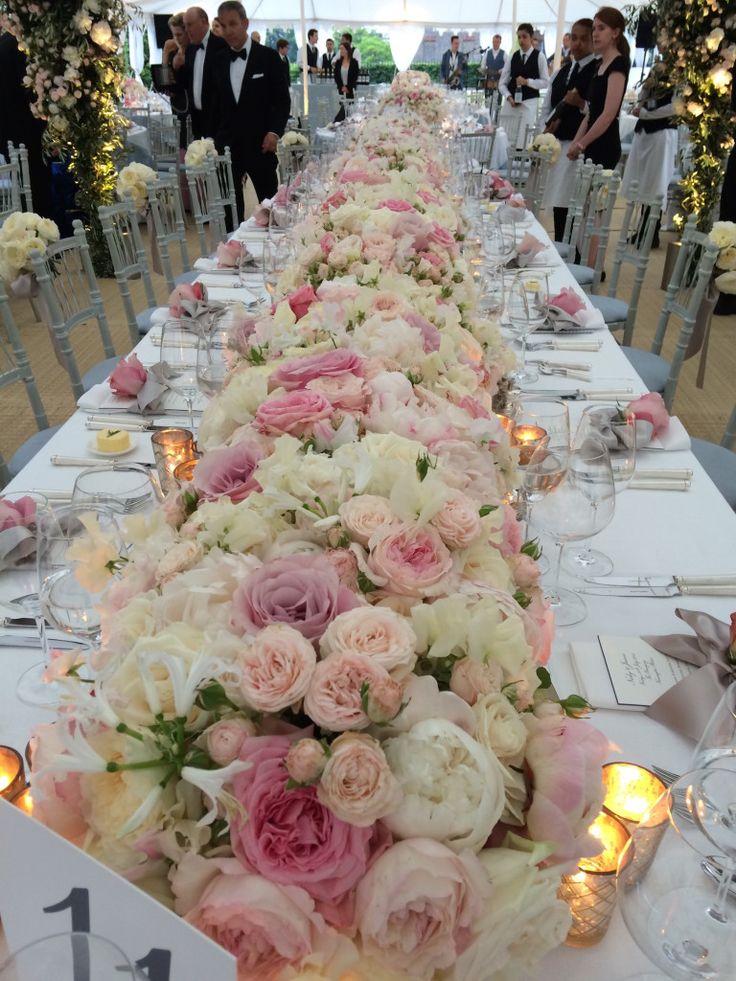 What a floral arrangement & table... #Inspiration #wedding #venue Nicky Hilton wedding..