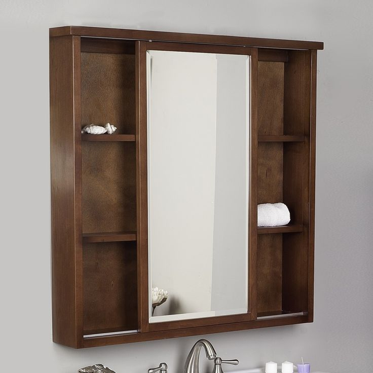 Inspirational Cherry Medicine Cabinet with Mirror
