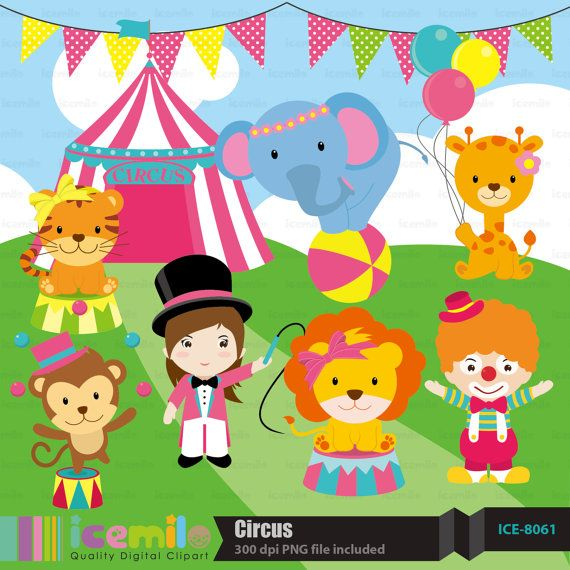 Circus Digital Clipart by IcemiloClipart on Etsy, $4.50