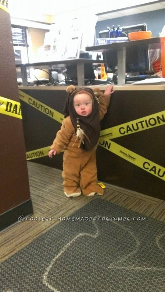 cute homemade little ewok costume - Homemade Toddler Halloween Costume