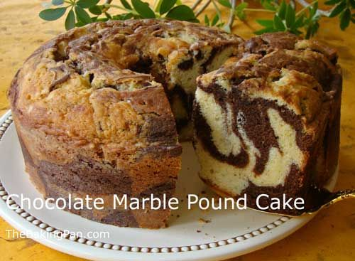Cake Recipe | Chocolate Marble Pound Cake Recipe