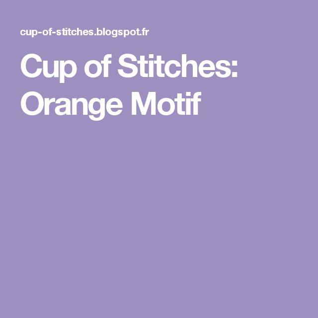 Cup of Stitches: Orange Motif