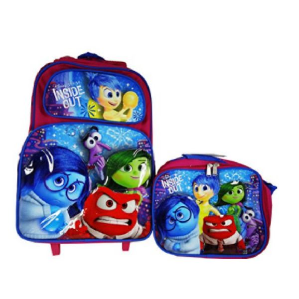 Kids Rolling Backpack with Lunch Bag Adjustable Shoulder Strap & Double zippered #Disney #Backpack