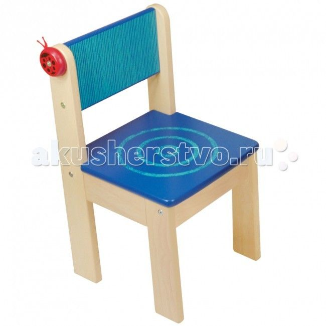 I'm toy Игрушка детский стульчик  Удобный и функциональный стульчик классического дизайна для малышей. Отлично подходит к столам фирмы I'm toy.   Яркий деревянный стульчик, все углы стульчика, закругленные.  Изготовлен стульчик I'm Toy из ценных, редких пород древесины. Для окраски применяются стойкие и безопасные краски, не содержащие фенол. Сбоку спинки пристроилась ярко-красная божья коровка. Она сама деревянная, а забавные усики – тесёмочки с узелочками на концах. На неё, как на крючок…