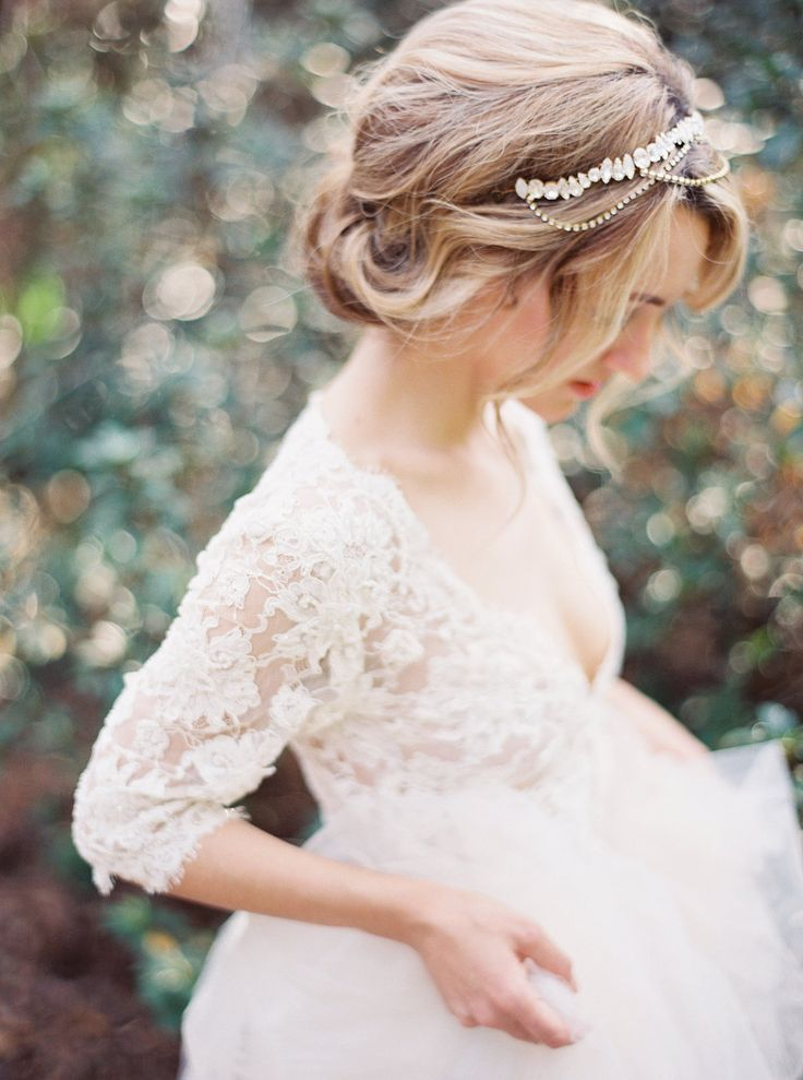 Beautiful Wedding Hair Loose Romantic Updo With Jeweled