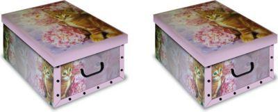 Artra Ordnungsboxen Deko Karton 2er SET Box Clip GattoRosa Katze Aufbewahrungsbox für Haushalt Büro Wäsche Geschenkbox Dekokarton Sammelbox Mehrzweckbox Ordnungskarton Ordnungsbox Geschenkekarton Jetzt bestellen unter: https://moebel.ladendirekt.de/dekoration/aufbewahrung/kaestchen/?uid=cf3bc41e-adbe-5f5a-93d5-d916f9495029&utm_source=pinterest&utm_medium=pin&utm_campaign=boards #heim #aufbewahrung #kaestchen #dekoration