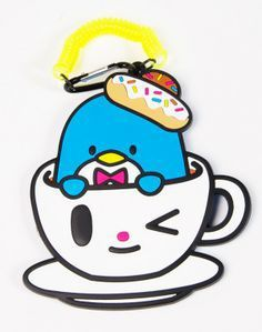 limited edition tokidoki x sanrio characters luggage tag tuxedosam x donutella - Tokidoki Donutella Coloring Pages