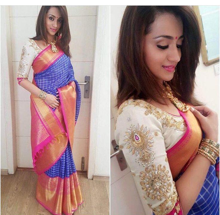 Kavita ghutta# saree # south silk # Indian wear # love for saree