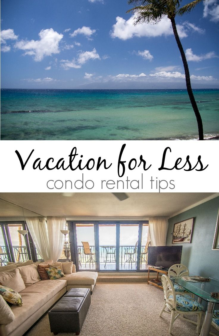Vacation for less by renting a condo!  Enjoy a more comfortable vacation for less than a hotel room!