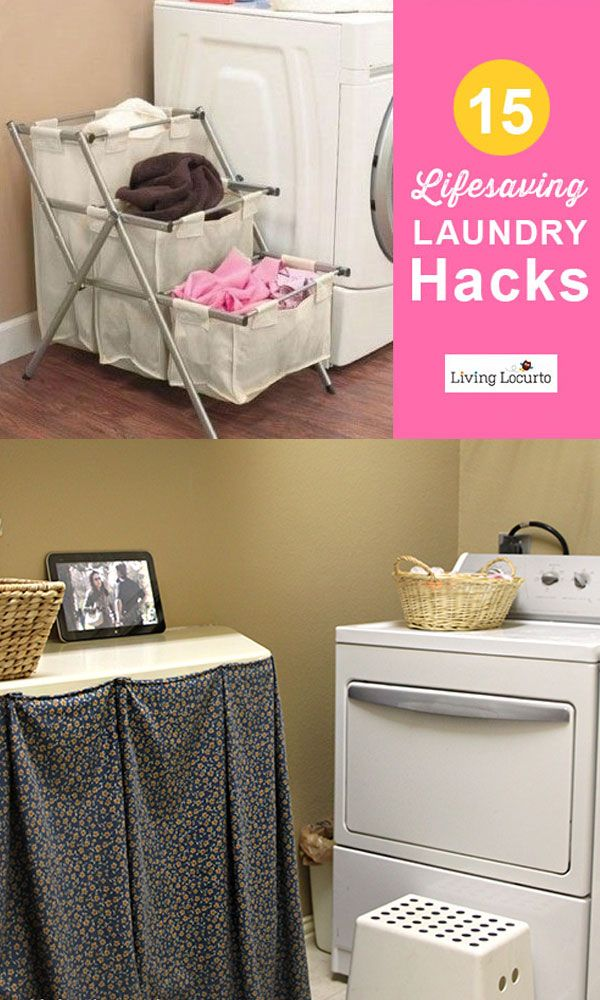 15 Lifesaving Laundry Hacks!