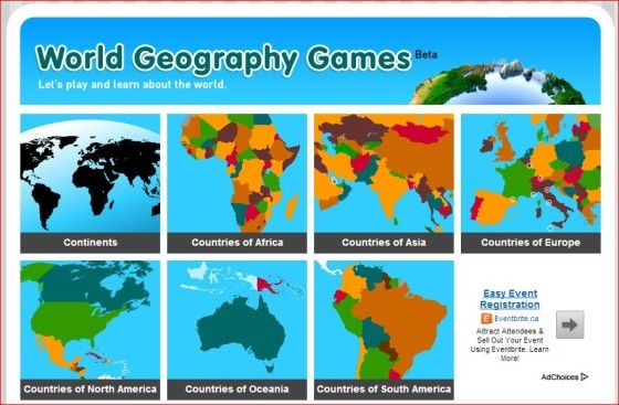 Test your geography knowlege with this site
