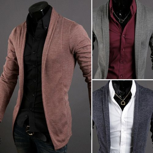 Mens Stylish Cardigan Sweater Jacket (CA211)_2 Colours