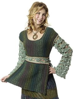 I really enjoyed designing this. I've always wondered if I could make a tabard that is more flattering and with more style than the knitted and crocheted tabards of the 1970's.