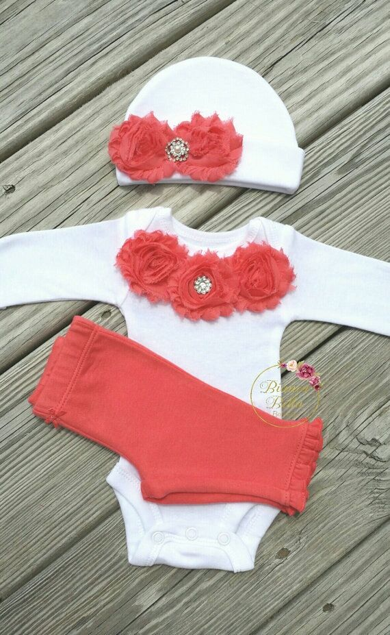 Preemie Take Home Outfit Baby Girl Outfit Newborn by AdassaBaby